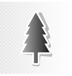 new year tree sign new year blackish icon vector image