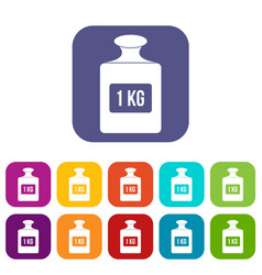 one kilogram weight pattern simple style vector image