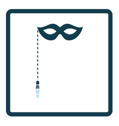 Party carnival mask icon vector