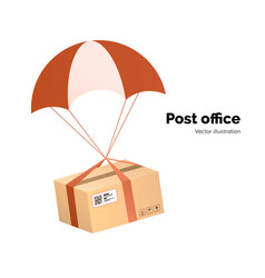 Post office airmail delivery service packege vector