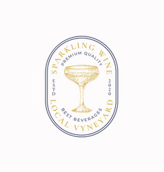 premium champagne abstract sign symbol or vector image