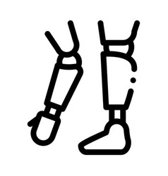 prosthetics of arms and leg orthopedic icon vector image