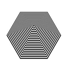 Pyramid shape hexagon vector