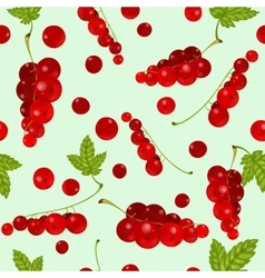 Red currants Seamless vector