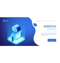 robotics technology isometric3d landing page vector image