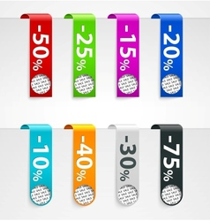Sale paper tags announcements vector image
