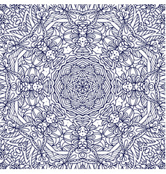 seamless monochrome ornate pattern line art vector image