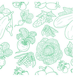 Seamless pattern of various doodles vector