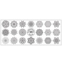Set of hand drawing zentangle mandala elements vector image