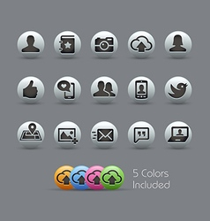 Social Web Icons Pearly Series vector image