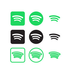 Spotify social media icons vector