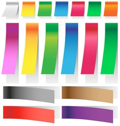 stickers elongated vector image