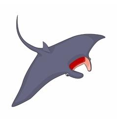 Stingray icon in cartoon style vector