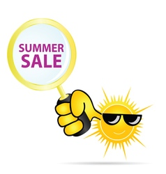 summer sale sun color vector image