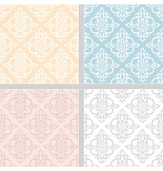 Summer seamless ethnic pattern set vector image