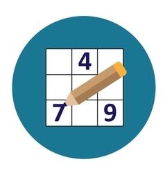 Symmetrical sudoku icon vector