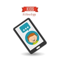 technological kids vector image