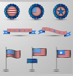 the set of design elements with usa vector image