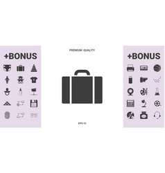 travel bag icon - graphic elements for your design vector image