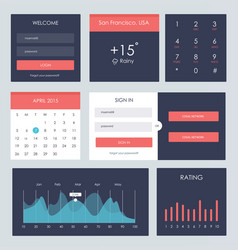 ui kit for website and mobile app vector image