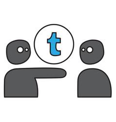 unusual look tumblr social media icons vector image