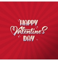 Valentines day - calligraphy typography greeting vector image