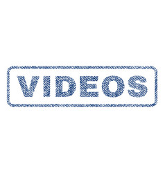 Videos textile stamp vector