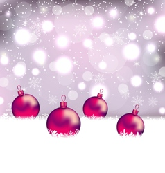 Winter cute background with Christmas balls vector