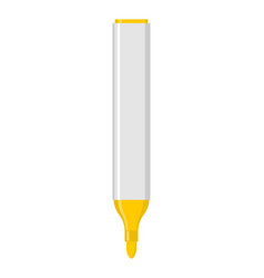 yellow marker isolated office stationery school vector image