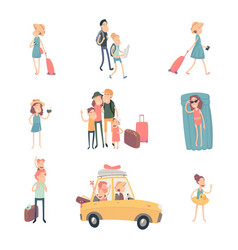young people on vacation vector image
