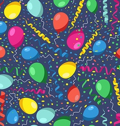 Colorful seamless pattern of birthday party with vector image