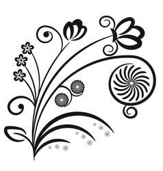 Floral ornament Decorative branch vector image