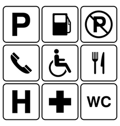 parking sign set vector image