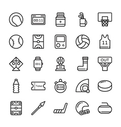 Sports colored icons 4 vector