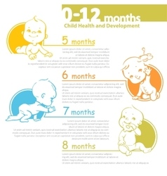 Baby growing up infographic vector image vector image