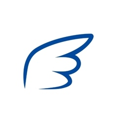 Blue contour wing icon simple style vector image vector image