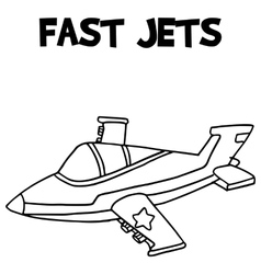 Fast jets with hand draw vector image vector image