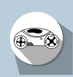Futuristic car with modern elements vector