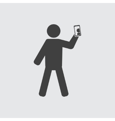 Man taking photo icon vector image