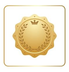 Seal award gold icon blank medal vector