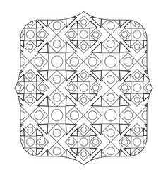 Line quadrate with pattern geometric shapes vector