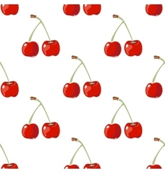 Red cherry seamless background vector image vector image