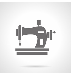 Sewing machine with spool glyph style icon vector