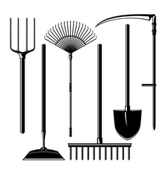 Agricultural tools isolated on white background vector
