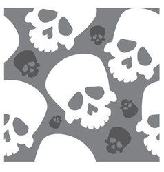 seamless wallpaper with skulls vector image
