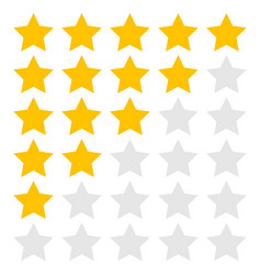 5 stars vector