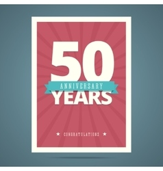 50 year anniversary card vector image