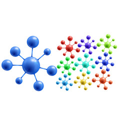 Abstract colorful molecules vector