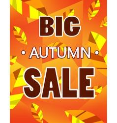 advertisement about autumn sale vector image