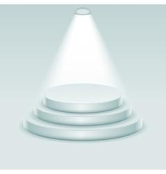 Award podium stage ceremony illuminated 3d vector image